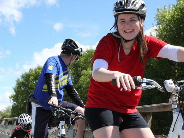 Teenager riding a bike on the Otago Central Rail Trail