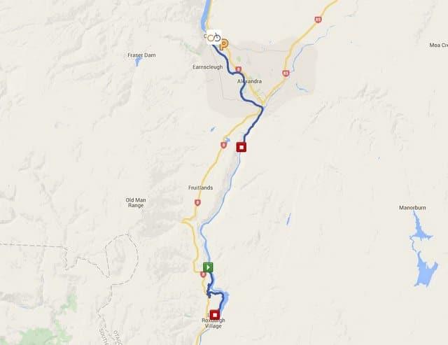 Roxburgh Gorge Trail Map