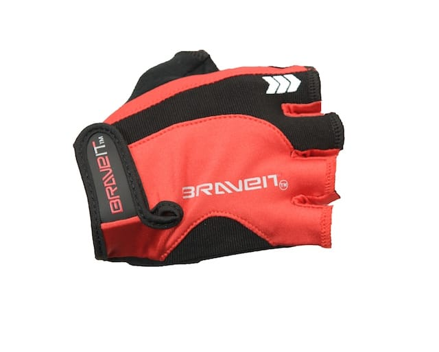 braveit fingerless gloves red